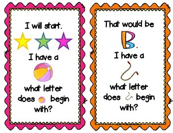 I Have Who Has? Beginning Sounds