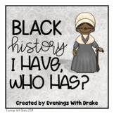 I Have, Who Has Black History Month Trailblazers Card Set