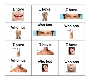 I Have, Who Has? (Body Parts)