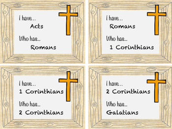 I Have, Who Has... Books of the New Testament - Bible Game