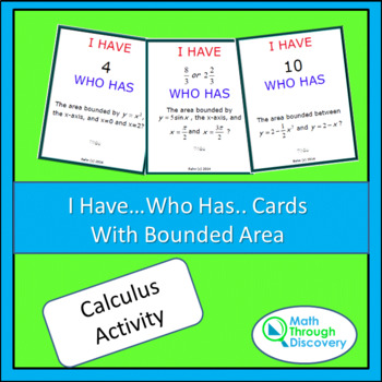 I Have... Who Has... Cards- Bounded Area