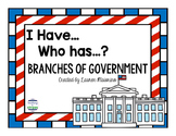 I Have... Who Has...? Branches of Government Game