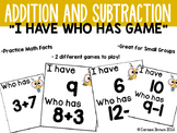 I Have Who Has Bumblebee Addition and Subtraction Game