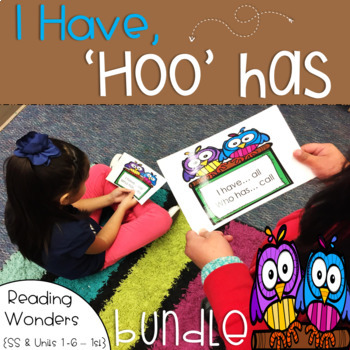 I Have Who Has Reading Wonders Sight Word Bundle 1st grade