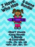 I Have Who Has Bundle! Short vowels, long vowels, r contro