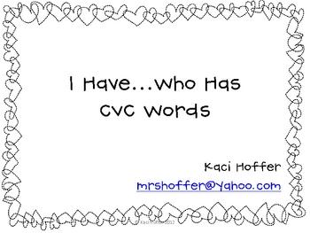 I Have Who Has CVC Cards