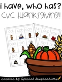 I Have, Who Has CVC Thanksgiving Themed Game!