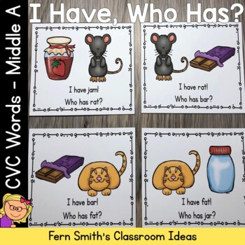 I Have, Who Has? CVC Words - Middle A Cards