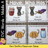 I Have Who Has Game CVC Words - Middle A Cards