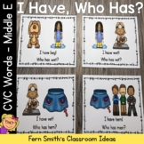 I Have Who Has Game CVC Words - Middle E Cards