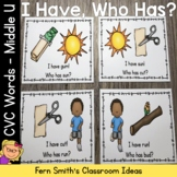I Have, Who Has? CVC Words - Middle U Cards