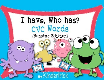 I Have... Who Has? CVC Words {Monster Edition}