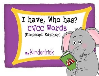 I Have... Who Has? CVCC Words {Elephant Edition}