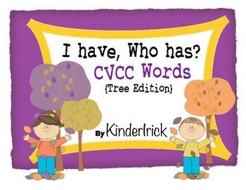 I Have... Who Has? CVCC Words {Tree Edition}