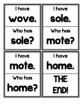 I Have. Who Has? (CVCE, Long O)