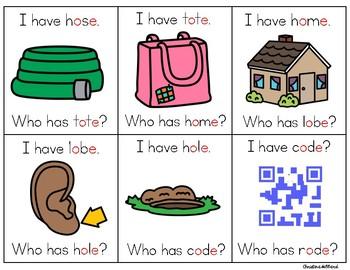 I Have, Who Has? CVCE: (Long O)