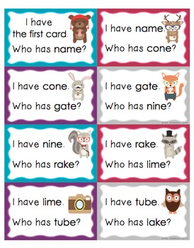 """""""I Have, Who Has?"""" CVCe Words (Long Vowels)"""