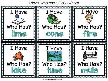 I Have... Who Has- CVCe Words