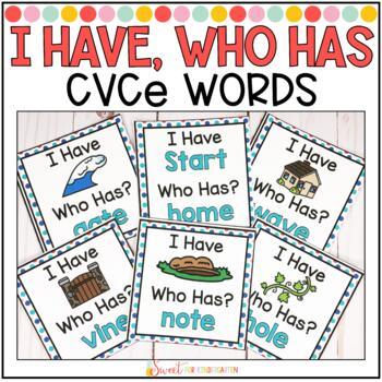 I Have... Who Has {CVCe Words}