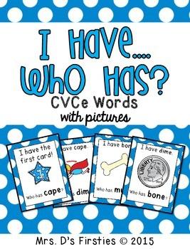 I Have, Who Has {CVCe words}