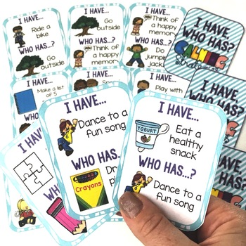 I Have, Who Has... Calming Strategies Card Game for Teaching Coping Skills