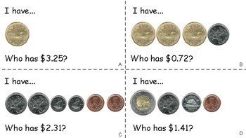 I Have Who Has Canadian Coins