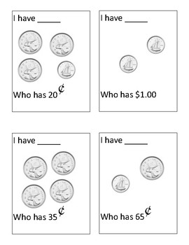 I Have, Who Has? Canadian Coins to $1.00
