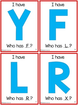 I Have, Who Has - Capital Letter Identification card game