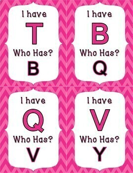 I Have Who Has Capital Letters