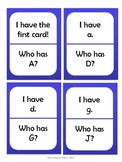 I Have, Who Has: Capital and Lowercase Letters