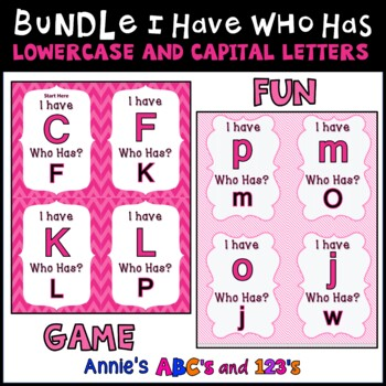 I Have Who Has Capital and Lowercase Letters Bundle