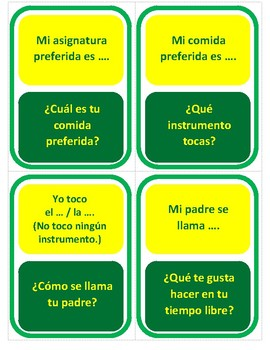 Mi personalidad - Beginner Version - Question Chain Game