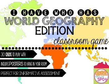 I Have, Who Has Card Game: World Geography, Map Skills, an