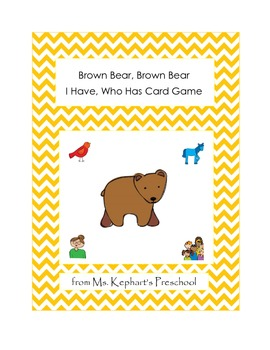 I Have Who Has Card Game with Brown Bear Brown Bear Theme