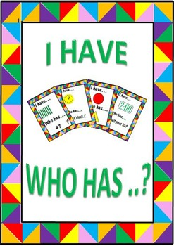 I Have ...Who Has ...? (Add, Subtract, Shape, Time) Card Games