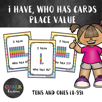 I Have, Who Has Cards Place Value - Tens and Ones