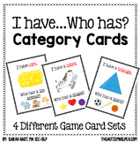 I Have, Who Has? Category Cards