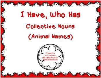 I Have, Who Has - Collective Nouns