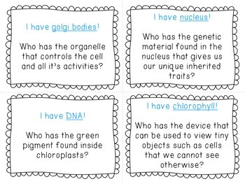I Have, Who Has? Cells