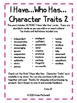 *MORE I Have Who Has - Character Traits and Definitions 2*