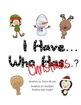 I Have... Who Has...? Christmas