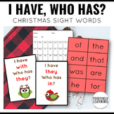 I Have Who Has Christmas Sight Words