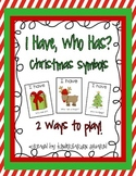 I Have, Who Has? Christmas Symbols Freebie