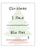 I Have, Who Has: Christmas Words