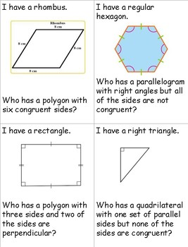 I Have, Who Has...Classifying Polygons