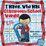ESL Vocabulary for Beginners! (I Have, Who Has School Words) Fun ESL Game!