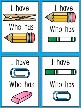 ESL Games - (I Have, Who Has School Words) ESL Vocabulary for Beginners!