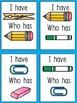 ESL Games - (I Have, Who Has School Words Game) ESL Vocabulary