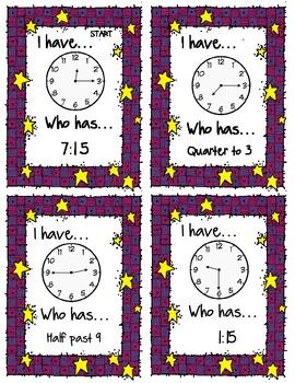 I Have, Who Has - Clocks