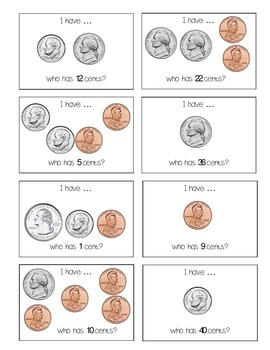 I Have Who Has Coin Edition